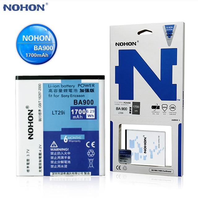 Original NOHON Battery BA900 For Sony Xperia TX LT29i J ST26i L S36h C2104 C2105 AB-0500 SO-04D Bateria BA900-Battery 1700mAh