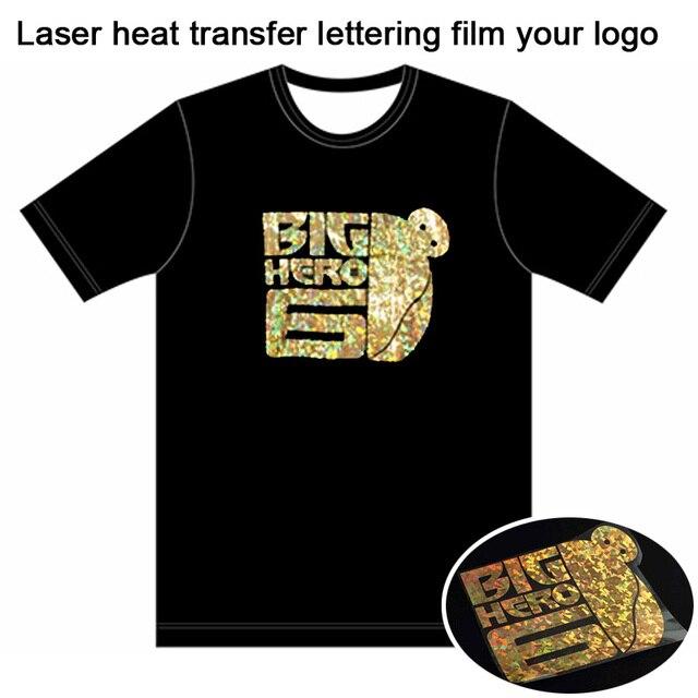 696266993 Custom T-shirt Free Laser heat transfer lettering film T-shirt LOGO Unisex  3D Material heat print Vinyl T Shirts Adult Summer Cl