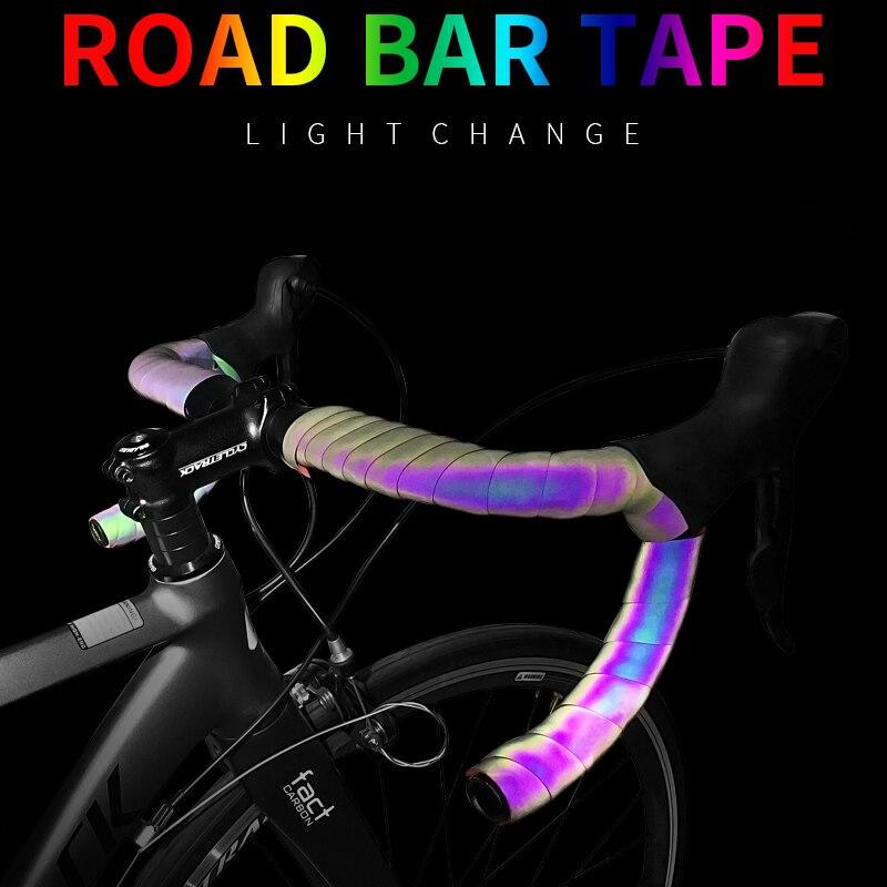 Велосипедная лента на руль, велосипедная лента на руль, светильник, светоотражающая велосипедная лента, дорожная лента для велосипеда, Обмотка из искусственной кожи, велосипедный руль