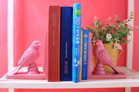 Simple modern style cartoon book book stall bird resin book by children's Day gift model room decoration