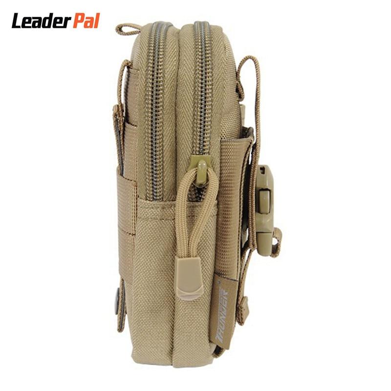 À prova d' Água telemóvel Black Color Bag : Nylon Tactical Waist Bag