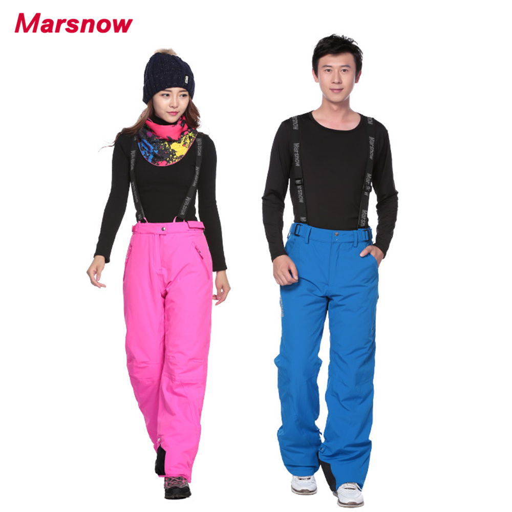2017 Marsnow Women Skiing Pants Winter Men Quality Snowboard Pants Waterproof Breathable Thick Warm Trousers Outdoor Snow Pants marsnow brand outdoor sport warm breathable waterproof ski pants men high quality snowboard winter hiking snow trousers for men