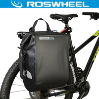 ROSWHEEL Luggage Carrier Bag 20L 100% Full Waterproof Bicycle Roll Bag Bike Trunk Rear Rack Bag MTB Cycling Tail Bag Accessories