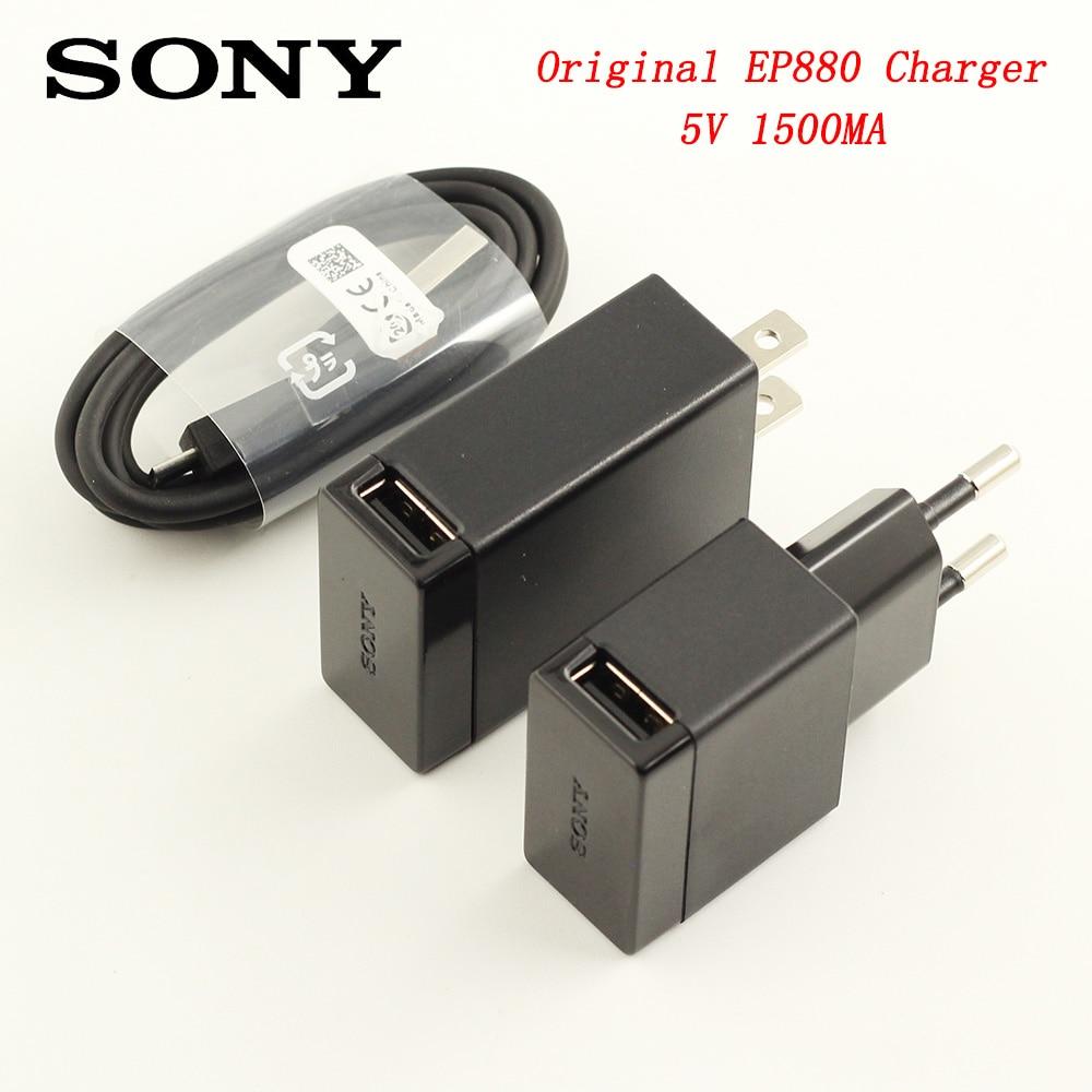 D'origine Pour SONY USB Chargeur Adaptateur 5 v 1.5A + 100 cm Micro USB Charge Rapide Câble de Données Pour XPERIA z1 Z2 Z3 Z4 Z5 Compact X XA