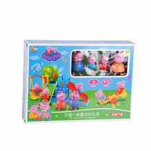 Peppa Pig George Family Toys Doll Real Scene Model Amusement park PVC Action Figures toys peppa pig toys doll real scene model house pvc action figures family member toys early learning educational toys for children