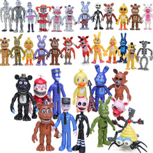 在庫5夜でフレディのアクションフィギュアセットfnafフォクシーチカボニーフレディfazbear姉妹場所モデル人形fnafおもちゃ