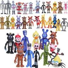 ในสต็อกFive Nightsที่Freddy S ActionตัวเลขชุดFNAF Foxy Chica Bonnie Freddy Fazbearน้องสาวLocationตุ๊กตาFNAFของเล่น
