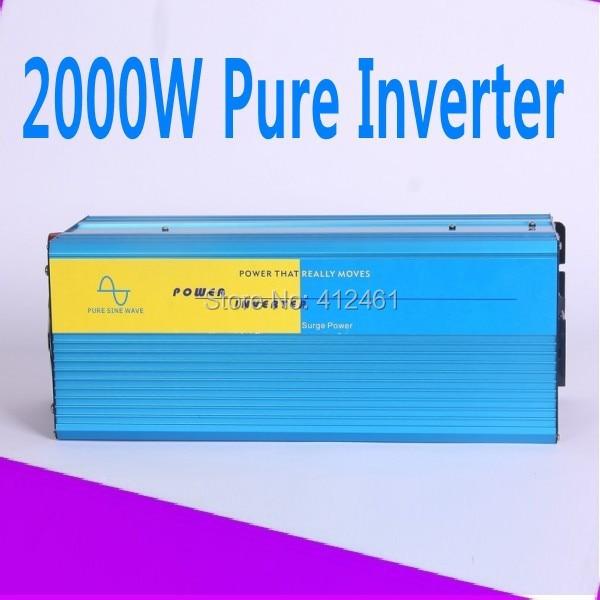 2000W ren sinus inverter High quality 2000W Pure sine wave inverter 230/220V AC 12/24VDC, PV Solar Inverter, Power inverter