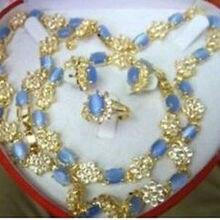 Prett Lovely Women's Wedding Beautiful necklace bracelet ring earrings set >AAA