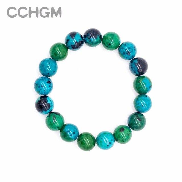 2017 fen Natural Chrysocolla Malachite stone beads bracelets for women round beads bracelet jewelry with pendant vintage jewelry