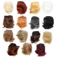 Mini peluca DIY de 5cm en color negro, blanco y marrón, peluca de Material para cabello para muñecas BJD 1/3 de alta temperatura, accesorios para muñecas
