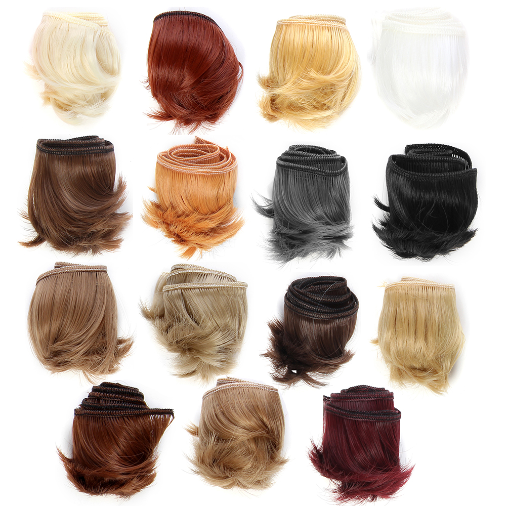 5cm DIY Mini black white brown color Tresses Doll Wig Material Hair Wig For <font><b>1/3</b></font> <font><b>1/4</b></font> <font><b>BJD</b></font> High-Temperature Doll Accessories image