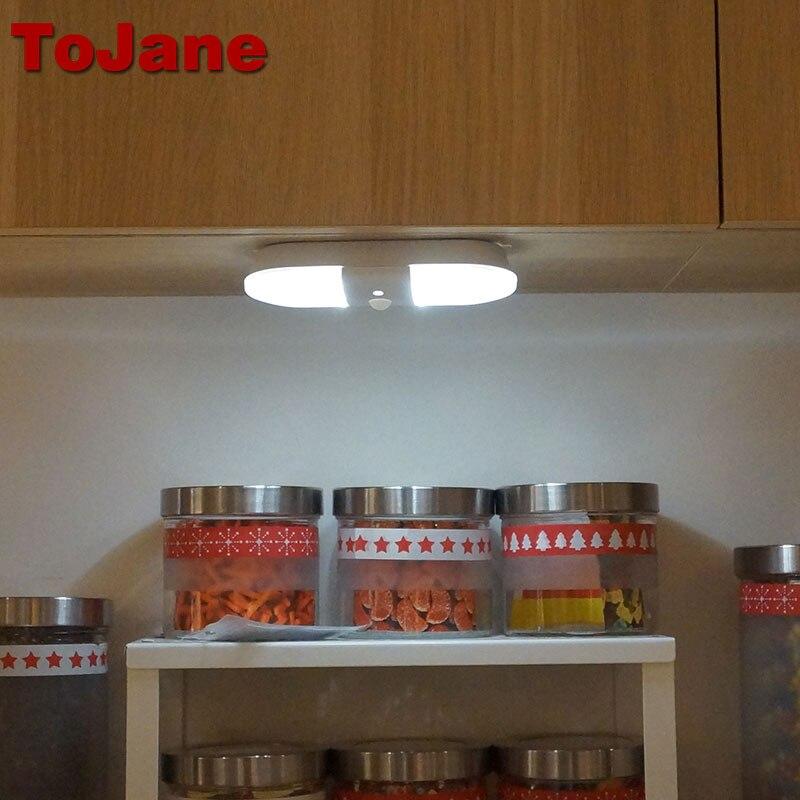 Tojane Led Sensor Licht Closet Night Batterij Lamp Motion Draadloze ...