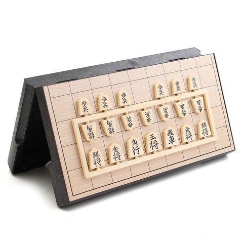 Jogo de Xadrez Exercitar o Pensamento Alta Qualidade Dobrável Conjunto Japonês Portátil Magnética Shogi Sho-gi Lógico 25*25*2 cm Box