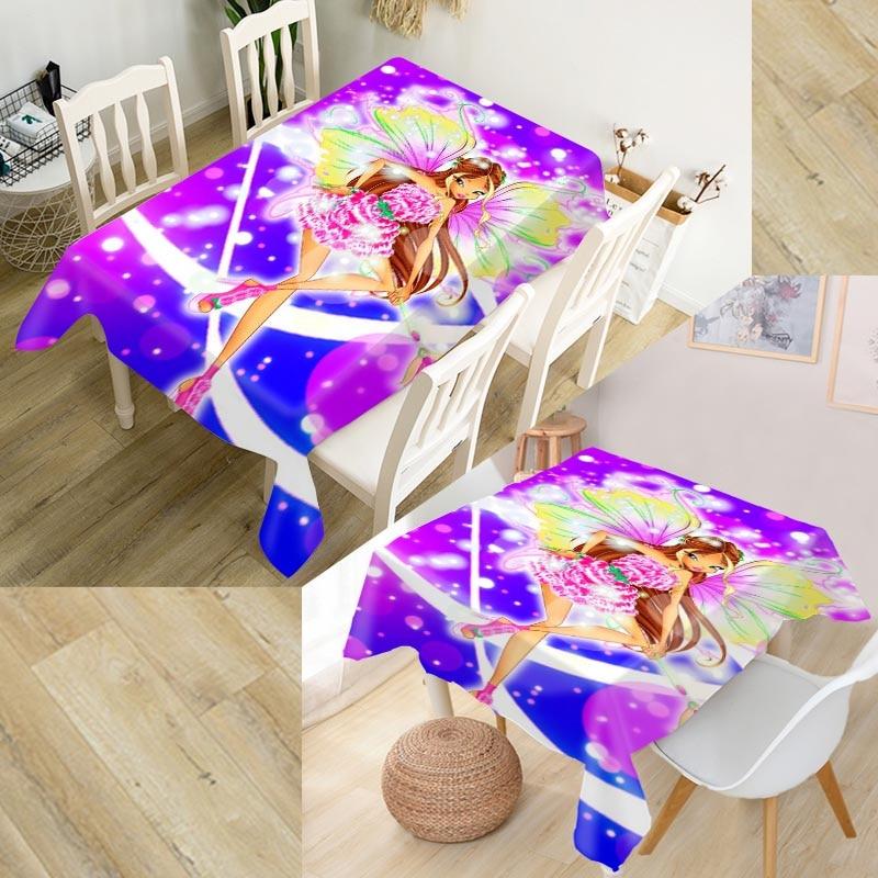 Christmas Tablecloth 3D Starfish Shell Rectangular Wedding Table Covers Cloth