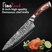 Кухонный дюймов нож 8 дюймов Professional Chef ножи японский 7CR17 440C высокоуглеродистой нержавеющей стали мясо Santoku Micarta Ручка