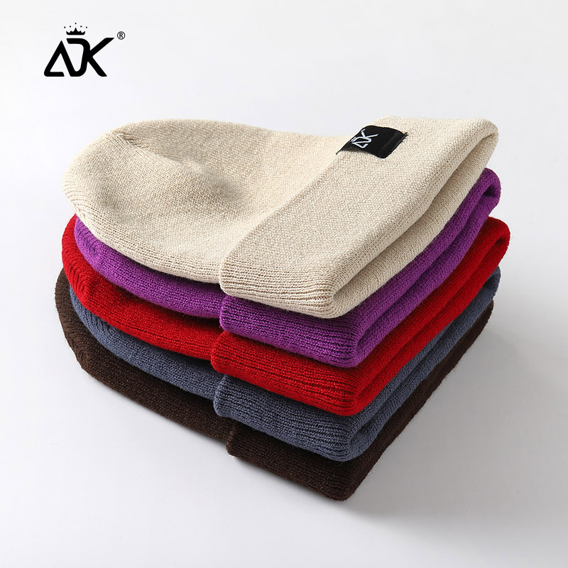 Unisex Hats Knitted ADK Tags Cap Woman Beaines For Winter Breathable Men Gorras Simple Hats Warm Solid Casual Lady Beanies 2