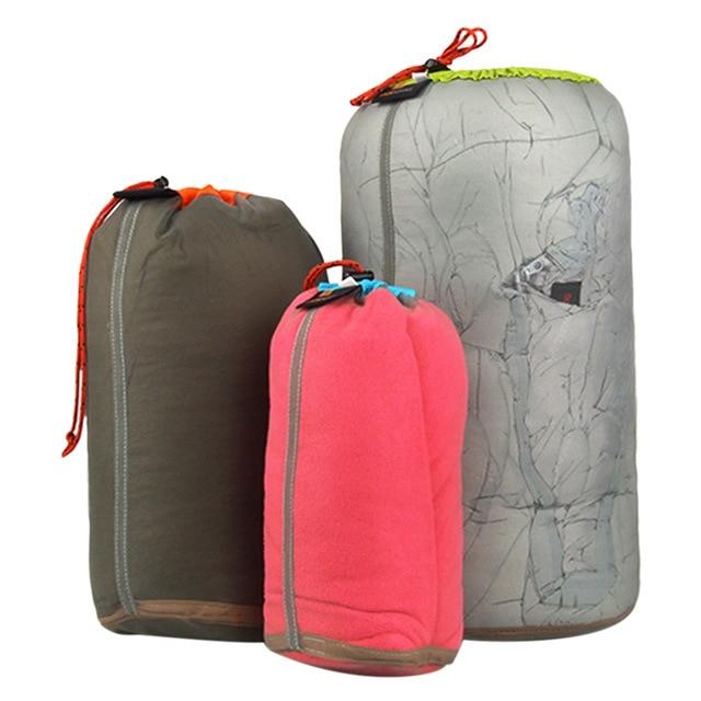 Ultraligero Red con cordones cosas saco bolsa de almacenamiento caso para auriculares Tavelling deportes de acampada grande/Medio/tamaño pequeño