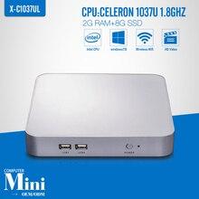 Mini computador Celeron C1037U 2 GB RAM 8 GB SSD WIFI Desktop Mini Thin Client teclado Mouse sem fio