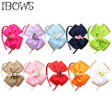 5'' BACK TO SCHOOL Hair Band for Girls Ribbon Hair Bow Side With Rhinestone Fruit Patch Knotted Hair Hoop Kids Hair Accessories
