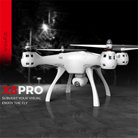 X8PRO Big GPS Drone Profissional with HD Camera FPV RC Helicopter 2.4G 6Axis WIFI Real time Altitude Hold Selfie Dron Quadcopter