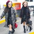 Детская шерсть утолщение пальто Корейский осень и зиму шерстяные пальто дети шерстяной жакет И Пиджаки 5-11 лет
