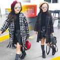 Children 's wool thickening coats Korean autumn and winter long  woolen coat  kids wool jacket Outwear 5-11 year