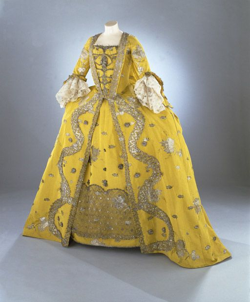 1750s England Victorian dress satin dress