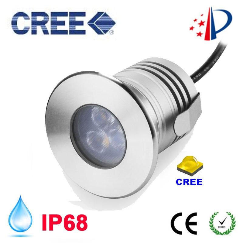 Stainless Steel 12 V IP68 Tahan Air LED Underwater Kolam renang Cahaya Lampu 3 W Spa sauna Lake Yard Tambak fountain Pencahayaan