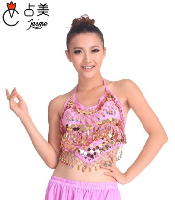 on Sale Cheap Coins Sexy Belly Dance Top Size Bra for Women 11 Colors Available in Belly Dancing from Novelty Special Use