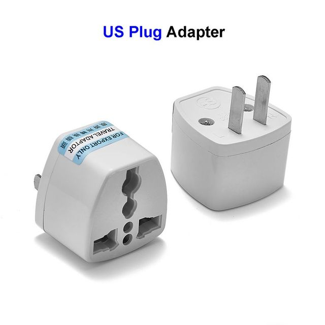 EU AU UK To US Plug Adapter Universal American US Travel Plug ...