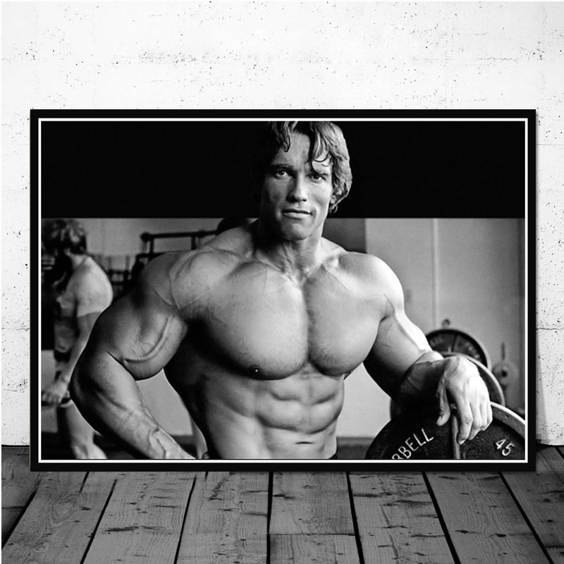 Poster Prints Oil Painting Arnold Schwarzenegger Bodybuilding Fitness Gym Workout Wall Art Pictures Living Room Home Decoration With Free Shipping Worldwide Weposters Com