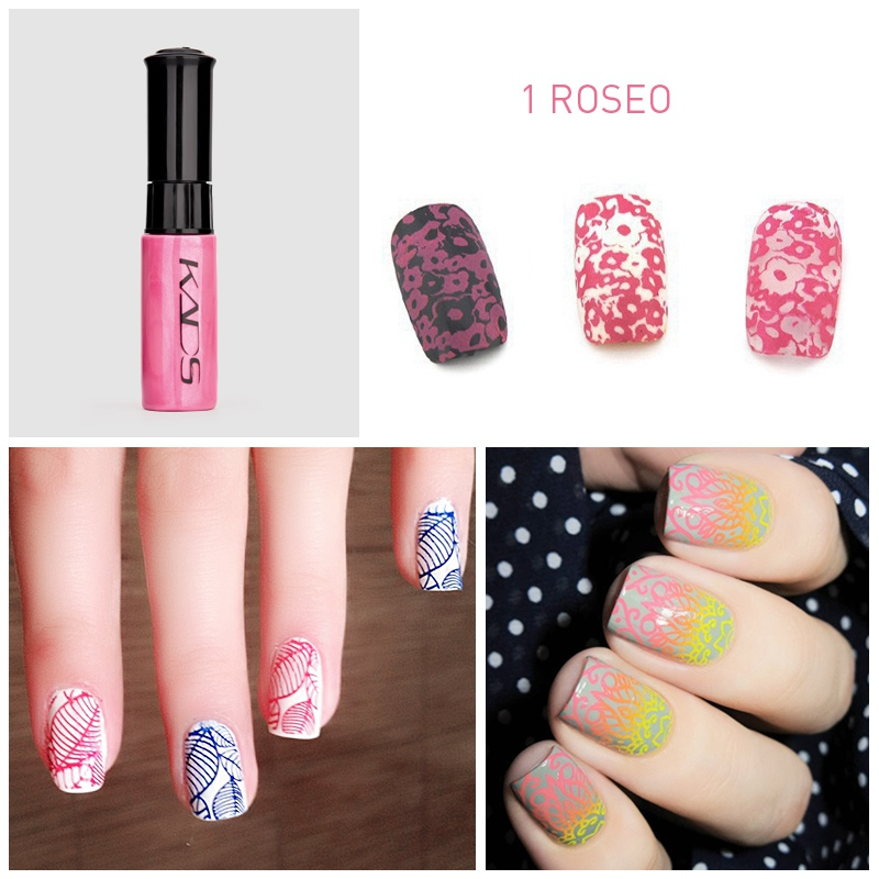 Image 5 - nail stamping polish for Nail stamp templates Varnish 10ml 1 Bottle/LOT Colorful Stamping Polish nail art pen 31 colors vernis-in Nail Polish from Beauty & Health