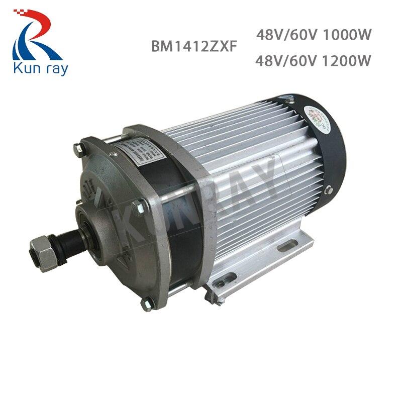 BM1412ZXF 1000 W/1200 W 48 V/60 V moteur sans brosse Tricycle électrique 1000 W moteur à courant continu pour voiture électrique trois roues moteur KitBike pièces