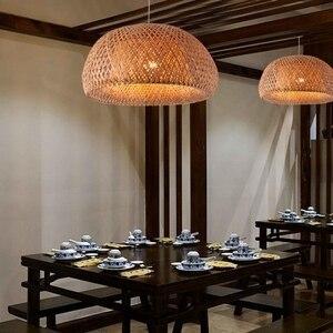 Image 2 - מודרני במבוק עבודת יד סרוג במבוק אריגת נברשת מסעדה בעבודת יד