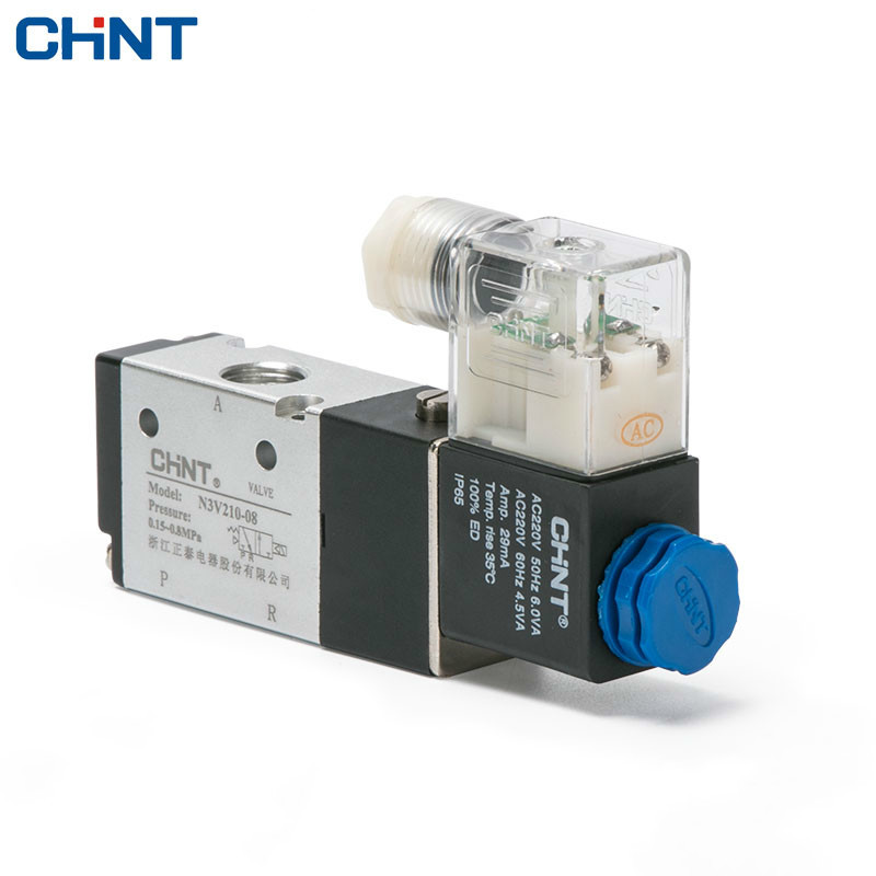 CHINT Two Position Three Electromagnetism Valve Normally Open AC220V Reversing Valve Often Close DC24V 24v normally open normally close electric thermal actuator for room temperature control three way valve dn15 dn25