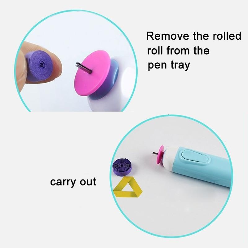 DIY электрическая сигаретная бумага для квиллинга ручки бумага ремесло оригами инструмент для завивки бумаги HYD88