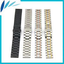 Stainless Steel Watch Band 22mm for Amazfit Huami Xiaomi Smart Watchband Butterfly Clasp Strap Wrist Loop Belt Bracelet Black