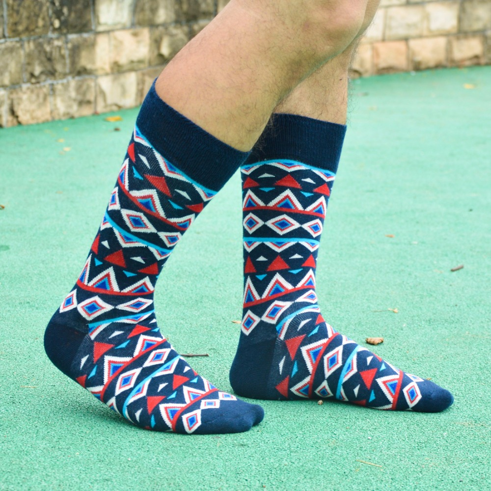 Original brand good quality winter socks men Colorful ARGYLE SOCK fun mens Cotton Socks Wedding Gift Socks ...