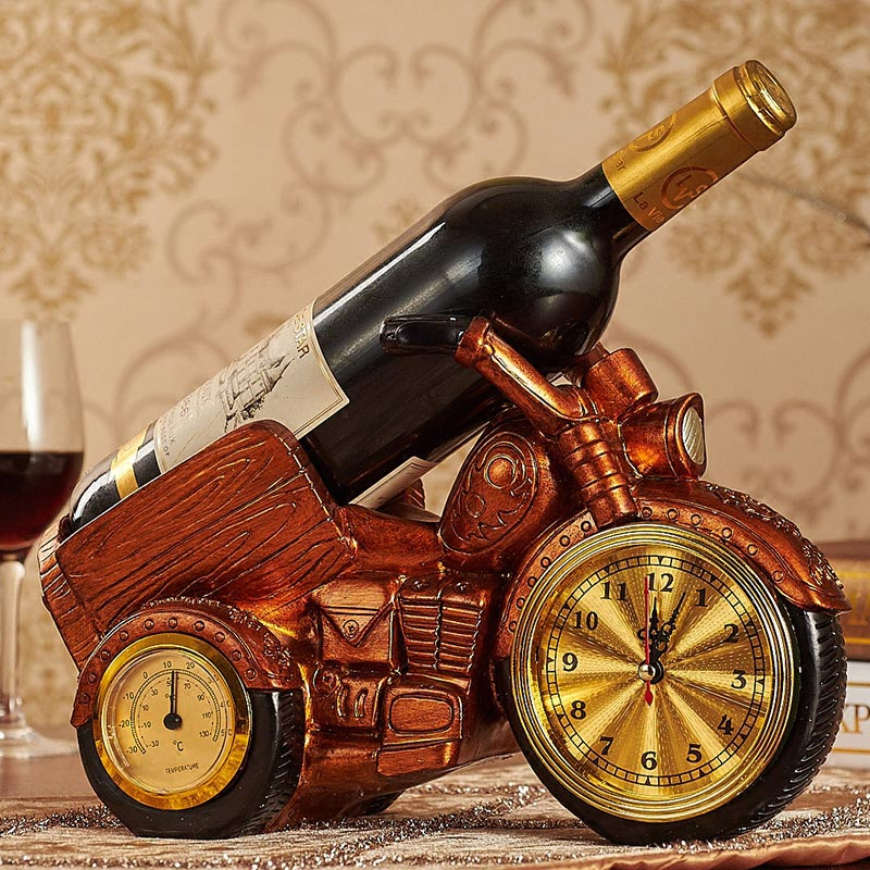 European retro luxury wine cooler wine rack Craft home bar decoration beer stand resin wine holders bottle holder whisky