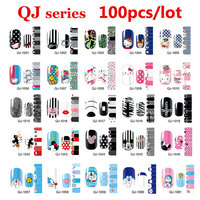 100pcs Cute Cartoon Nail Art Decal Wraps Stickers Adhesive Full Cover Polish Foils Decoration Wholesale
