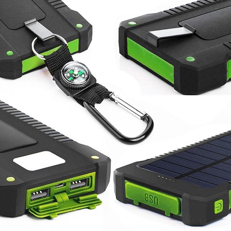 14.9cm X 7.4cm X 1.8cm Diy Waterproof Dual Usb Quality No Battery Solar Led 50000mah Power Bank Charger Case Kit Excellent In