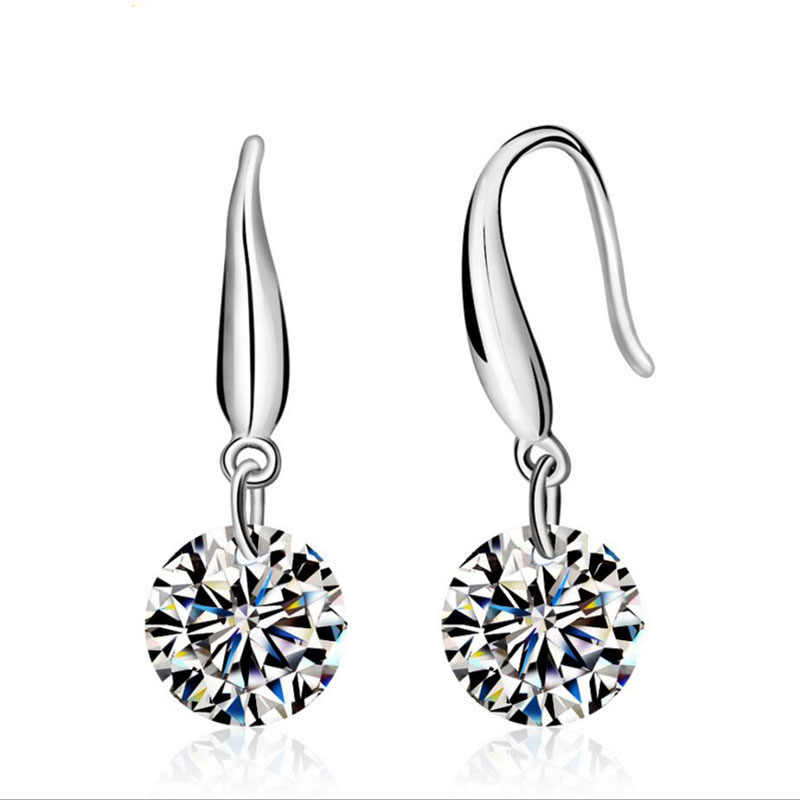 2019 New Fashion jewelry 925 sterling silver Earrings Crystal from Austrian New Woman name earrings Twins micro set