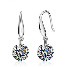 2019 New Fashion jewelry 925 sterling silver Earrings Crystal from Swarovski New Woman name earrings Twins micro set(China)