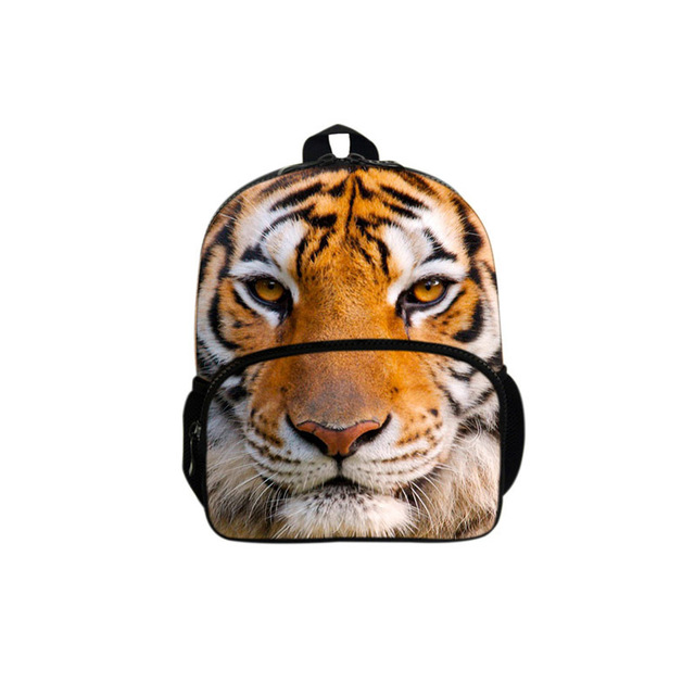 2017 New Children Personalized Fashion Cool 3D Tiger Felt The Earthquake  Shoulder Backpack Burden Free Shipping