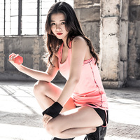 New Fashion Space Dye Quick Drying Fitness Vest Women S Loose Breathable Back Hollow Out Tank