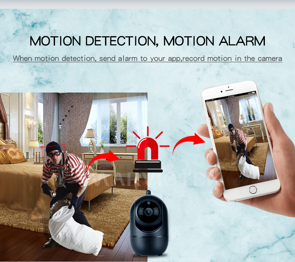 HTB1zh7pKwHqK1RjSZFEq6AGMXXaJ 1080P Full HD Wireless IP Camera Wifi IP CCTV Camera Wifi Mini Network Video Surveillance Auto Tracking Camera IR Night Vision