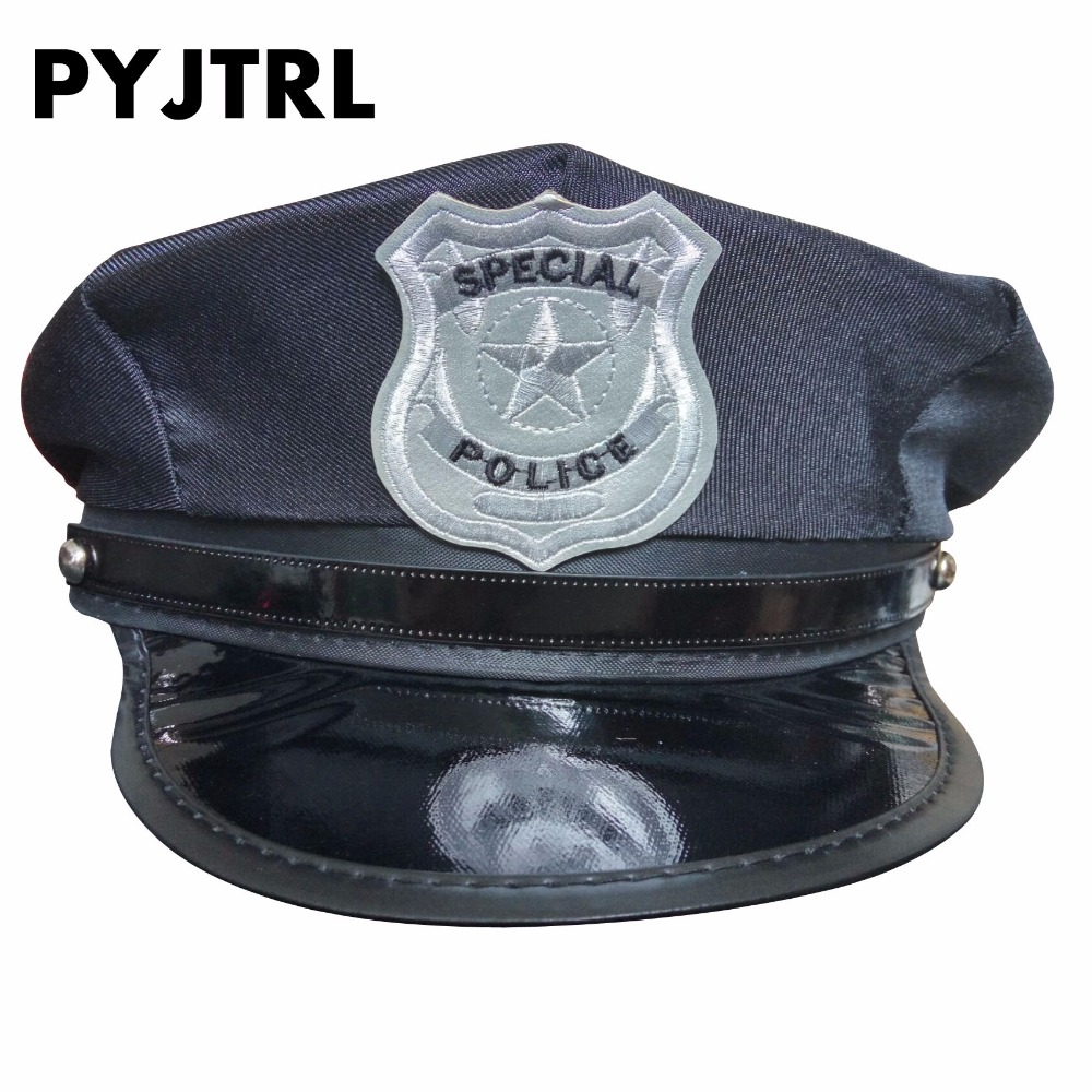 PYJTRL Politi Hat Hatte Cap Uniform Fristelse Ottekantede Ds Kostumer Military Caps Sailor Hat Army Cap DS190M