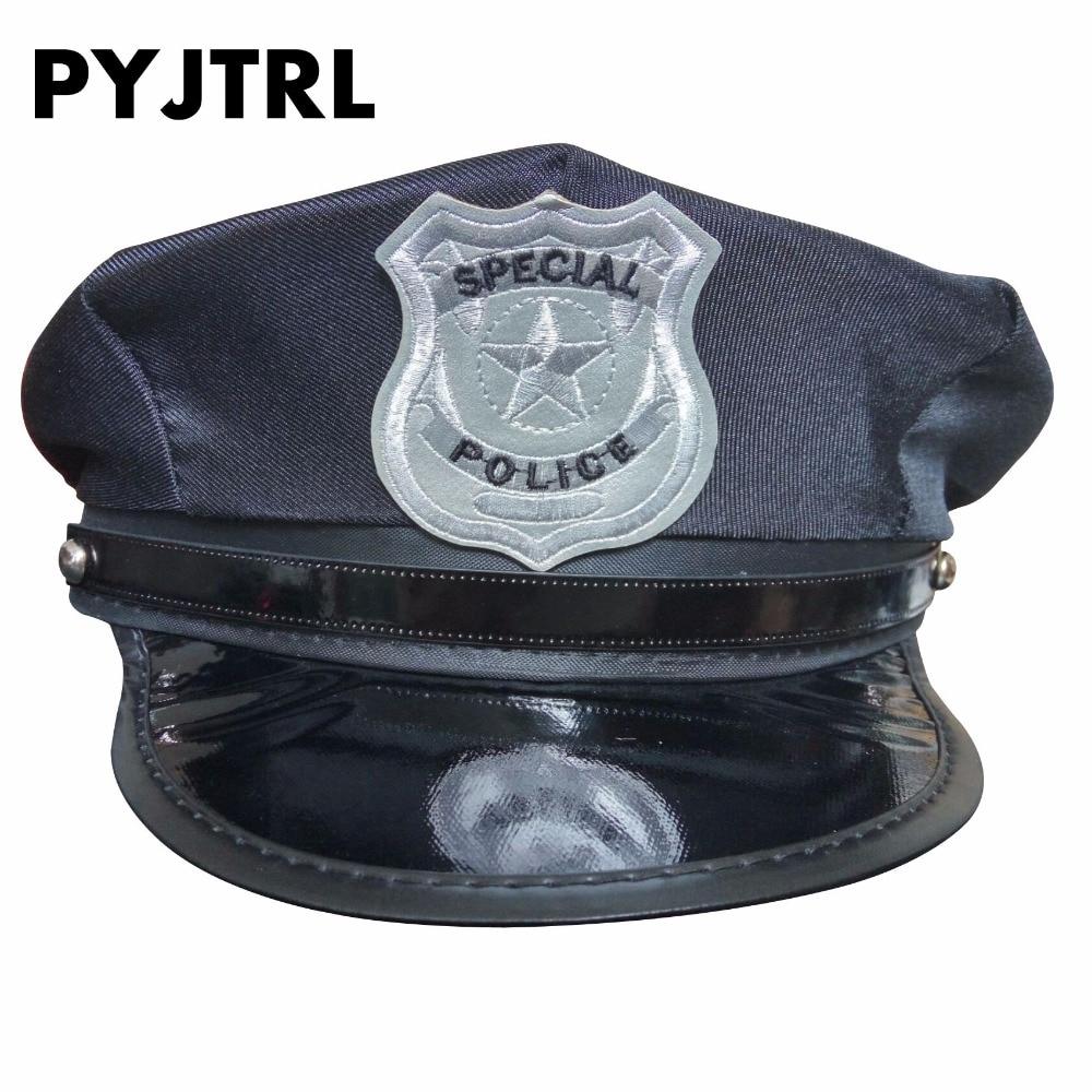 PYJTRL Polis Hatt Mössa Uniform Frestelse Åttkantiga Ds Kostymer Militär Mössor Sailor Hat Army Cap DS190M