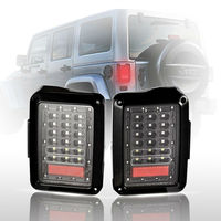 Pair Of Car Integrated LED Tail Light Running Brake Light Reverse Backup Turn Signals For Wrangler